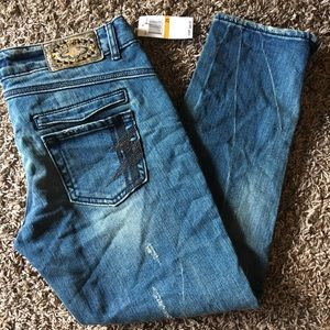 RERock Express skinny crop Jeans
